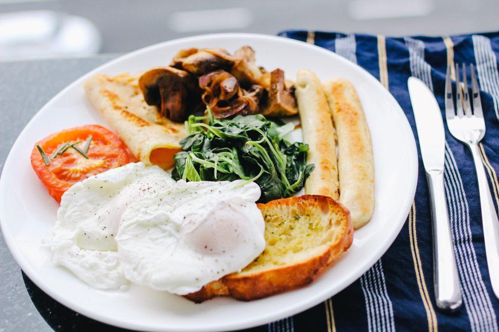 糖質制限の朝食